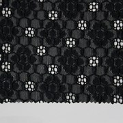 Кружево эластичное, цв. чёрный, шир. 16,8 см фото