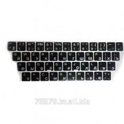 Наклейки на клавиатуру KAZ/RUS/ENG, черная основа фото