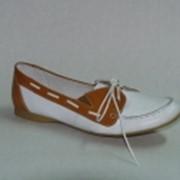 Удобные туфли женские повседневные на низком ходу. Модель 1270809 фото