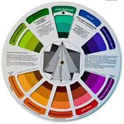 Продам цветовой круг для сочетания цветов, диаметр 20 см фото
