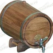 Жбан дубовый на подставке с краном 5 л.(оцинк. сталь) фото