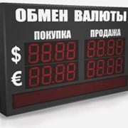 Электронное табло курсов валют фото