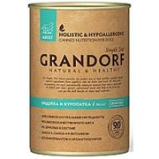 Grandorf 400г конс. Turkey&Quail Влажный корм для взрослых собак Индейка и куропатка фото