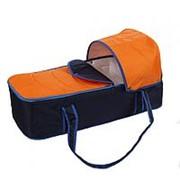 КАРАПУЗ Люлька-переноска для коляски Карапуз Сине-Оранжевый (0274/4640002290274) фото
