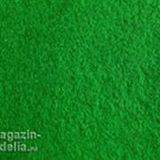 Отрезок фетра 4-5 мм 100% полиэстер ЗЕЛЕНЫЙ фото