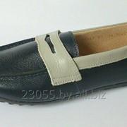 Туфли подростковые черные со вставками (размер 33-38) фото
