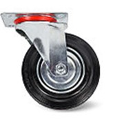 Колесо поворотное резина SC80 200мм (C-3302-SLS-200) фото