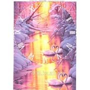 Декупажна карта формат А111 ДК Часы-лебеди фото