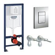 Система инсталляции для унитазов Grohe Rapid SL 38772001 3 в 1 с кнопкой смыва фото