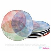 Набор Тарелок Десертных Из 6 Шт., диаметр 26 См. Золотой Кант Коллекция Парадиз фото