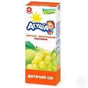 Агуша сок 0,2л яблоко-виноград фото