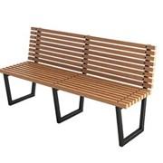 """Скамейки садовые деревянные """"Танго"""" со спинкой 1.8 фото"""