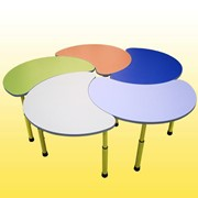 """Комплект столов """"Цветок"""" (5 шт), Комплекты столов для детского сада, Код: 8713 фото"""
