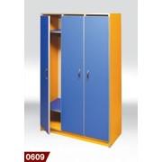 Шкаф для детского сада 3-местная фото