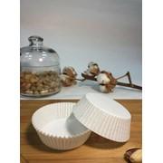 Пергаментные капсулы круглые. Цвет: белый, d60х25, 1000 шт. фото