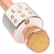 Беспроводной микрофон для караоке WS-858 (золото) фото