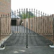 Ворота сварные металлические фото