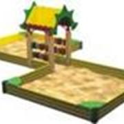 Песочницы и игровые домики фото