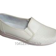 Туфли рабочие мужские белые кожаные фото