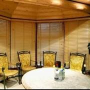Жалюзи горизонтальные деревянные (50 мм) фото