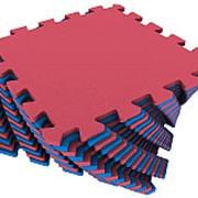 Мягкий пол универсальный 25х25см, красно-синий , 1кв.м (Экополимеры) фото
