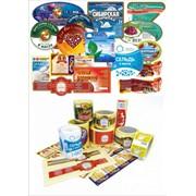 Этикетка для продуктов питания, металлизированная бумага фото