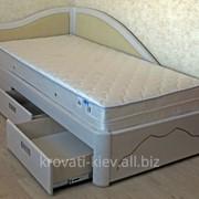 Кровать детская белая деревянная фото