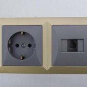 Выключатели и розетки TIMEX (Польша) серия OPAL фото