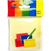 Стикеры для заметок с липким слоем, 76 x 76 mm, 100 листиков, желтые, kai hang 3100 фото