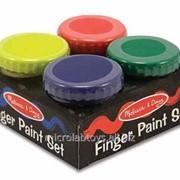 Пальчиковые краски, 4 шт. фото