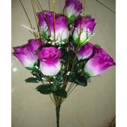 Цветок искусственный 10 нераскрытых бутонов розы Арт.055-11 фото