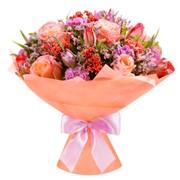Букет цветов из разных цветов фото