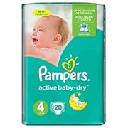 Подгузники Pampers activebaby-dry 4 (8-14кг), 20шт фото