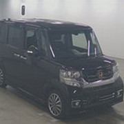 Микровэн турбо HONDA N BOX CUSTOM кузов JF1 класса минивэн модификация G TURBO L 2015 пробег 13 т.км пурпурный фото