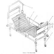 Кровать медицинская функциональная 3-х секционная фото