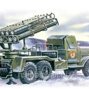 Модель ICM 1/72 БМ-24-12, Реактивная система залпового огня на базе Зил-157 фото