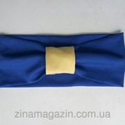Повязка сине-желтая фото
