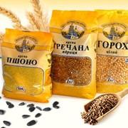 Крупа гречневая Тм Сквирянка пакет 1 кг ЭКСПОРТ фото