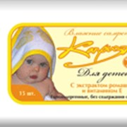 Влажные салфетки для детей Экстракт ромашки и витамин Е фото