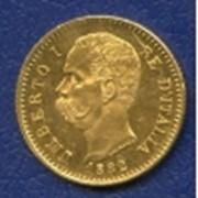 Монета 20 лир Италия фото