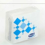 Бумажные салфетки (40шт. в упакове)24*24,однослойные,белые. фото