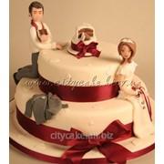 Торт свадебный №0014 код товара: 1-0014 фото