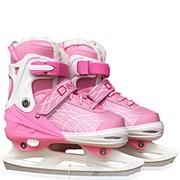 Детские раздвижные коньки на меху Dingxing розовый фото