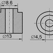 Изолятор втулка ТЭН 13/4,5 (ИКТ) фото