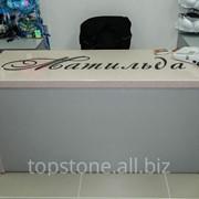 Мебель торговая, искусственный камень фото