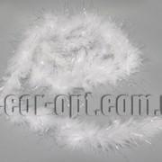 Боа перьевое белое с люрексом 4-5см/2м 3214 фото