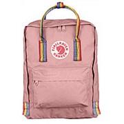 Рюкзак Fjallraven Kanken радужный розовый фото