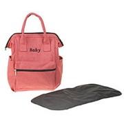 Сумка-рюкзак для хранения вещей малыша, с ковриком для пеленания, цвет красный фото