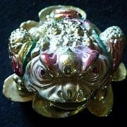 Сувенир Радужная жаба 2343 7х4,5 см. фото