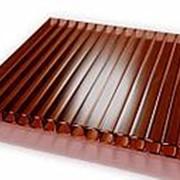 Сотовый поликарбонат 4 мм терракотовый Novattro 2,1x12 м (25,2 кв,м), лист фото